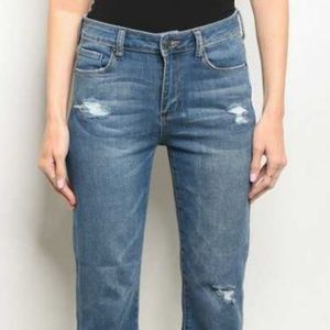 Ladies Jeans - cropped mini-boot cut